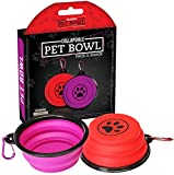 Utopia Home Collapsible Pet Bowls (Pack of 2) – Foldable & Portable Pets Pop Up Food and Water Bowls – Ideal for All Sized Pets For Sale