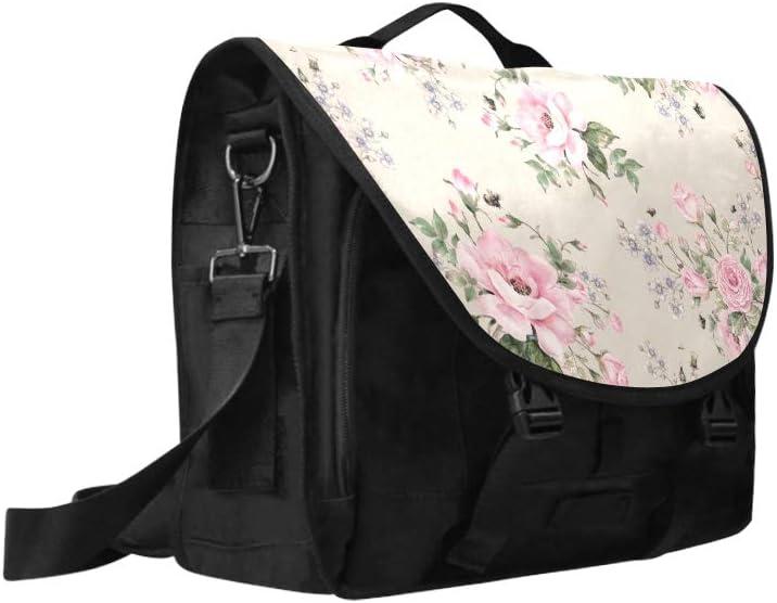 Laptop Bag Men Blooming English Rose Watercolor Multi-Functional Modern Woman Bags Fit for 15 Inch Computer Notebook MacBook