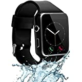 CNPGD [U.S. Office & Warranty Smart Watch] All-in-1 Smartwatch Watch Cell Phone for Android, Samsung, Galaxy Note, Nexus, HTC, Sony (Black, M)
