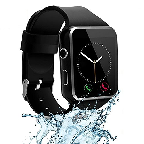 Unlocked Watch - CNPGD [U.S. Office & Warranty Smart Watch] All-in-1 Smartwatch Watch Cell Phone for Android, Samsung, Galaxy Note, Nexus, HTC, Sony (Black, M)