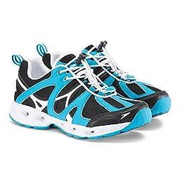 Speedo Women\'s Hydro Comfort 4.0 Water Shoe, Black/Hawaiian Ocean, 9 C/D US
