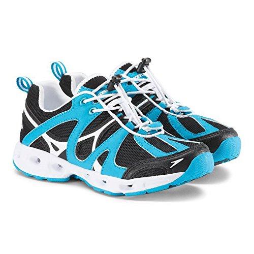 Speedo Women's Hydro Comfort 4.0 Water Shoe, Black/Hawaiian Ocean, 6 C/D US