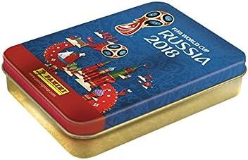 Coupe du monde 2018 STICKERS Boîte métal 9 pochettes - version Anglaise