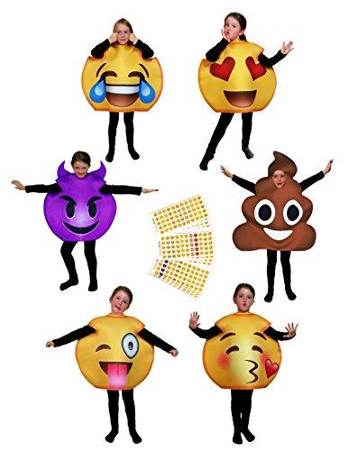 Favorite Emoji Costumes for Adults & Kids + BONUS 660 Popular Emoticon Stickers
