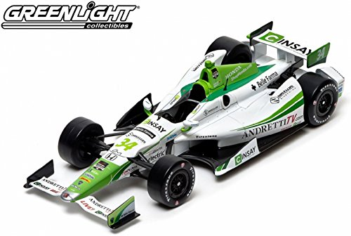 GreenLight Collectibles 2014 IndyCar #34 Carlos Munoz/Andretti Autosport Cinsay - Indy 500 Car (1:18 Scale) (Car Light Indy Green)