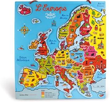Vilac - Puzzle magnético, diseño de Mapa de Europa: Amazon.es ...