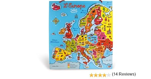 Vilac - Puzzle magnético, diseño de Mapa de Europa: Amazon.es: Juguetes y juegos