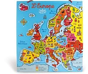 Vilac - Puzzle magnético, diseño de mapa de Europa