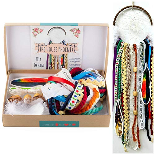 Colorful Make Your Own Dream Catcher Craft Kit Do It Yourself Home Decor DIY Valentine's Day Gift from The House Phoenix
