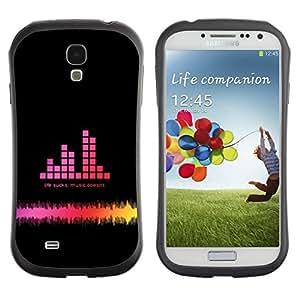 "Hypernova Slim Fit Dual Barniz Protector Caso Case Funda Para SAMSUNG Galaxy S4 IV / i9500 / i9515 / i9505G / SGH-i337 [Music Bar Graph""]"