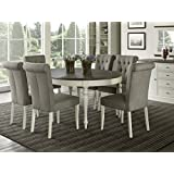 7 piece round dining set elegant glamorous dining room everhome designs vegas piece round to oval extension dining table set for amazoncom pieces chair sets kitchen room
