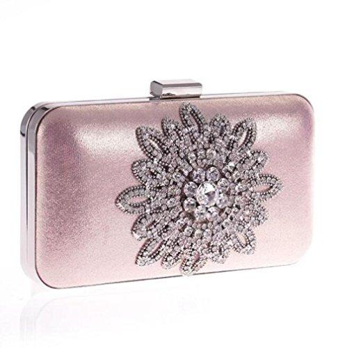 De Chaîne Diamant Sac Sac Pink Femme Pour Soirée De Sac WLFHM Coréen En Mode Sac Sac qwpFnWO6