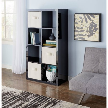 Better Homes and Gardens 8-Cube Organizer (High Gross Lacquer Black)