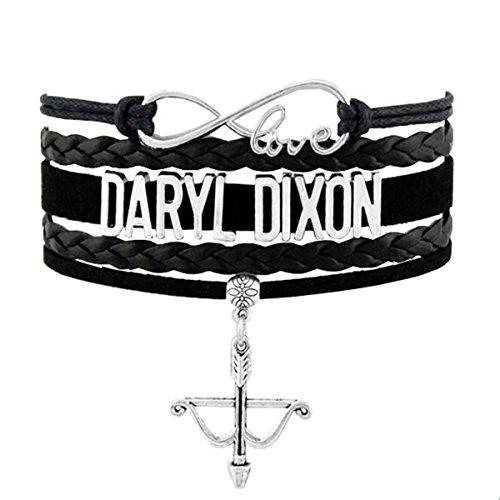 Walking Dead Infinity Love Bracelet Collectionnew  8 5 Inches Adjustable  Original Daryl Dixon Infinity Love Fan Bracelet