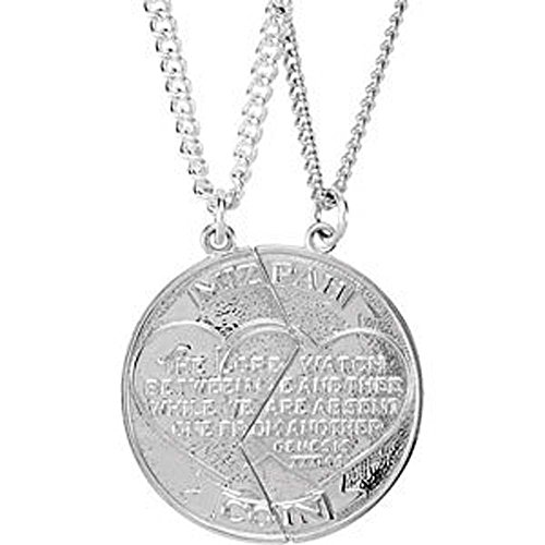 26.00x14.00 mm Right Miz Pah Coin Pendant in 14K Yellow Gold ()