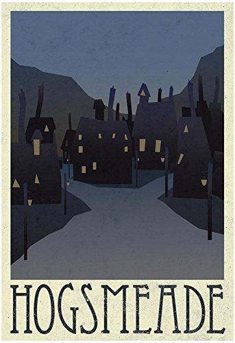 Laminated Hogsmeade Retro Travel Poster