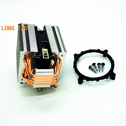 LONG TAO Dual Tower Heat-Sink CPU Cooler with 4 Direct Contact Heatpipes by LONG TAO (Image #3)