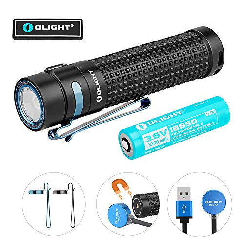 Olight S2R II 1150 Lumens USB Magnetic Rechargeable Variable-output Side Switch EDC LED Flashlight (S2R II)