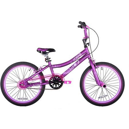 """This 20"""" Kent 2 Cool Girls' BMX Bike, Satin Purple includes single-speed gearing and plastic pedals that will provide her with plenty of power to ride on flat surfaces and small hills."""