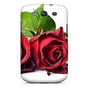 Snap-on Rose Flower Free Case Cover Skin Compatible With Galaxy S3 by lolosakes