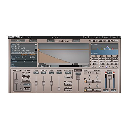 Waves IR1 | Convolution Reverb Plugin Software Physical Copy by Waves