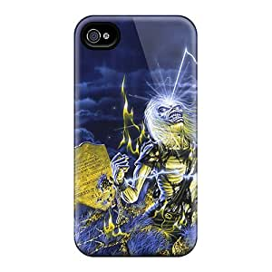 Scratch Protection Hard Cell-phone Cases For Apple Iphone 4/4s (AzE8855rxTq) Unique Design Attractive Iron Maiden Image