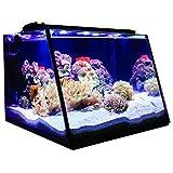 Lifegard Aquatics R800205 Full-View 7 gallon Aquarium with LED Light Built-In Back Filter