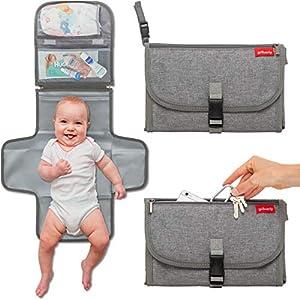 51HGgZexwlL. SS300  - Portable Diaper Changing Pad Baby-Travel Changing Mat Changing Station   Slim Hygienic   Shower Gift   Memory Foam…