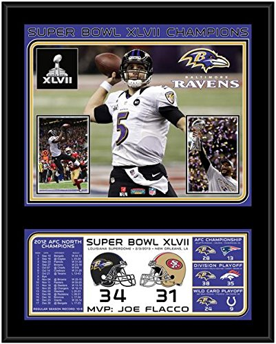 "Baltimore Ravens Super Bowl XLVII Sublimated 12"" x 15"" Plaque - Fanatics Authentic Certified - NFL Team Plaques and Collages"