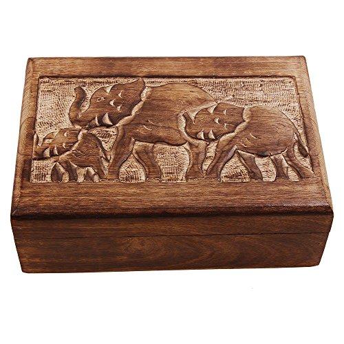 Christmas Gift Wooden Keepsake Jewelry Storage Trinket Box