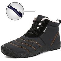 Mens Womens–Botas de nieve invierno impermeables zapatos encaje hasta tobillo exterior antideslizante zapatos