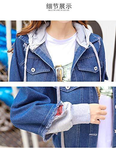 E Denim Maniche A Donna Le Blue4 Pesanti Per La Donne Donne Di Jeans Giacche Jean Blu Giacca Lunghe Ogobvck Signore BqwTRR