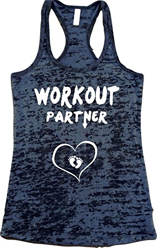 UNAMEIT Workout Partner Burnout Tank Top (L, Black)