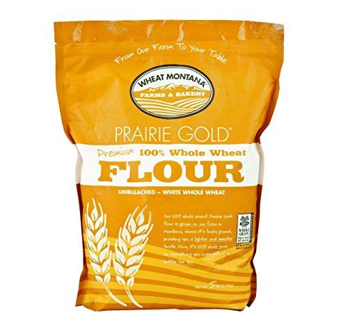 Wheat Montana Prairie Gold 100% Whole Wheat Flour (Pack of Two - 5 Lb. Bags)