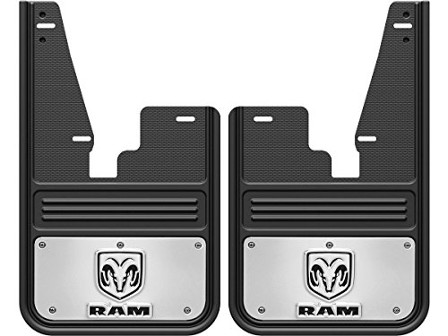 - Gatorback Mud Flaps with RAM Head Logo (Fits 2009-2018 RAM Front - Without OEM Flares)