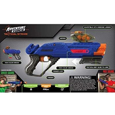 Adventure Force Tactical Strike Titanium Spring Action Ball Blaster 13 pc Box Trigger-Lock: Toys & Games