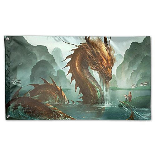 Garden Flag Chinese Dragon In The Water Outdoor Yard Home Fl