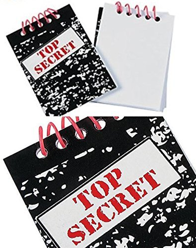 24 Top Secret Sleuth Party Notepads