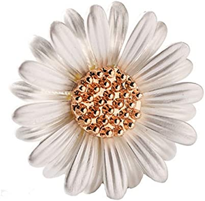 Shinywear Brooch Pin Vintage Sunflower Bee