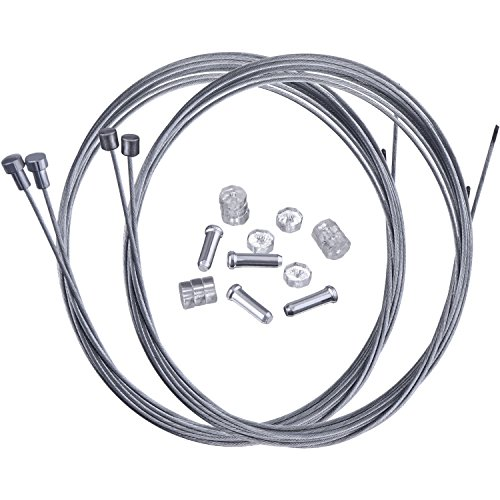 Cable Brake Campy - Hotop Road Bike Brake Cable Bicycle Gear Cable Wire and Caps Set (Road Bike Brake Cable Style A)