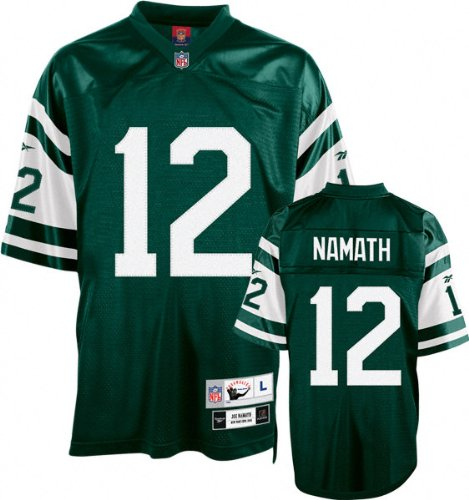 Namath Jersey (Joe Namath Green Reebok NFL Premier 1968 Throwback New York Jets Jersey - 3XL)