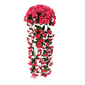 Paymenow Artificial Fower, 1 Bunches Artifical Fake Flower Violet Bracketplant Wall Hanging Garland Vine Flower Traling 65