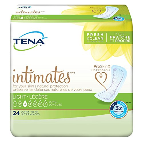 TENA Serenity Light Ultra Thin Pads Long - 1/Case of 144 (6 Packs of 24)
