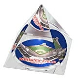 "MLB Chicago Cubs Wrigley Field in 2"" Crystal Pyramid with Colored Windowed Gift Box"
