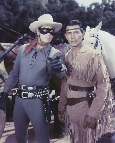 The Lone Ranger Featuring Clayton Moore, Jay Silverheels 8x10 Promotional (Rangers Collectibles)