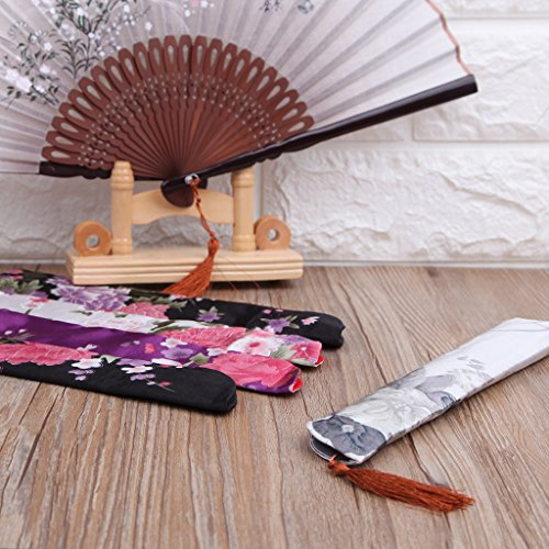 Yeahii Elegant Silk Hand Fan Bag Holder Pouch Folding Hand Fan Case Party Wedding Bags by Yeahii (Image #4)