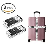 SWEET TANG 3 Dial Combination Lock Luggage Strap Hand Draw Chemistry [Set of 2]