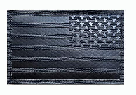 US USA Flag Infrared Reflective IR Armband Military Patch Fabric Embroidered Badges Patch Tactical Stickers for Clothes with Hook & Loop (color1) ()