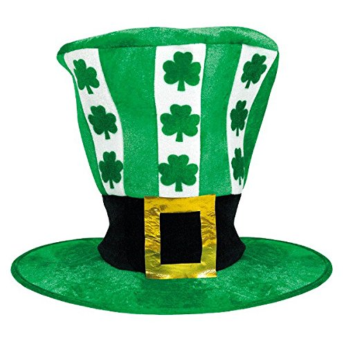 Amscan Wee willy St. Patrick's Day Party Lucky Leprechaun Oversized Hat (1 Piece), Green/White, 11