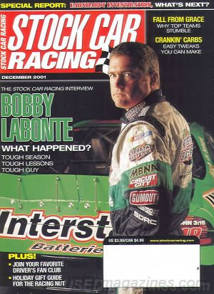 Stock Car Racing (Special Report: Earnhart Investment, What's Next?, December 2001) ()